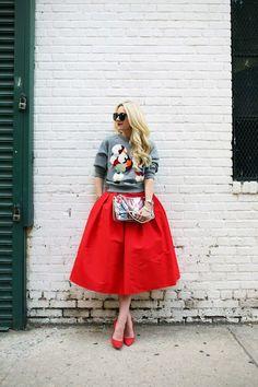 Love the print sweater