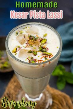 Punjabi Lassi Recipe, Indian Food Recipes, Asian Recipes, Lassi Recipes, Indian Drinks, Mango Lassi, Cardamom Powder, Homemade Yogurt