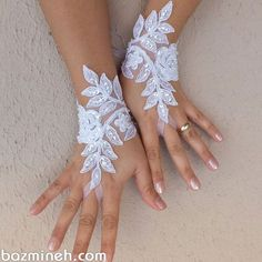 white or ivory lace glove, Wedding gloves free ship bridal gloves fingerless lace gloves white gloves french lace gloves free shipWedding Gloves Elegant lace bridal gloves French lace wedding gloves Soft and delicate Made with love to make your special da Hand Gloves, Wedding Gloves, French Lace, Bridal Lace, Bridal Gown, Bridal Accessories, White Lace, Black White, Wedding Jewelry