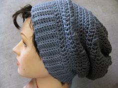 Puff Stitch Slouchy Hat Crochet Pattern by kickincrochet on Etsy, $4.00