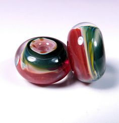 Lampwork boro glass beads