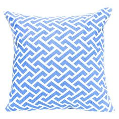 Organic+canvas+pillow.  ++Product:+Pillow+++Construction+Material:+Cotton+canvas+++Color:+Blue+and+whi...