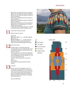"Photo from album ""Kate Davies Yokes"" on Yandex. Fair Isle Knitting Patterns, Knitting Charts, Knitting Stitches, Free Knitting, Sock Knitting, Vintage Knitting, Tejido Fair Isle, Diy Crafts Knitting, Knitting Tutorials"