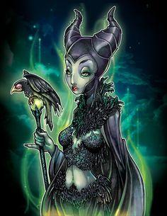 "Maleficent from ""Sleeping Beauty"" by Tim Shumate Disney Plus, Disney Love, Disney Magic, Evil Disney, Disney Nerd, Disney Stuff, Disney Princess, Disney Maleficent, Disney Villains"