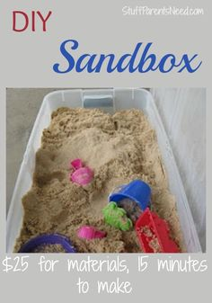 How to make a sandbox for those of us who can't/aren't going to physically build one. This solution is SO easy! :-)