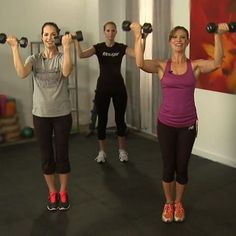 Tank top season is on its way! Get ready for all those sleeveless fashions with this 10-minute workout from celeb trainer Holly Perkins. The exercises target the upper body to create shapey shoulders. Grab a set of dumbbells, press play, and follow Holly