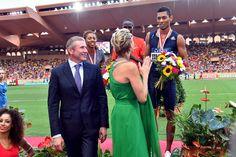 Charlène de Monaco, ancienne sportive de haut de niveau était très enthousiaste de ce meeting