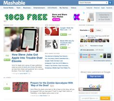 Evolution of Mashable From 2005 To 2012 [ Pics ]