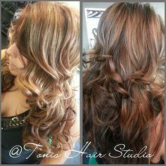 Brown carmel beautiful model at Toni's Hair Studio