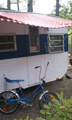 our 69 tag-along, and 70's fair Lady Schwinn *camper*