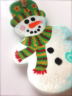 Hey, I found this really awesome Etsy listing at https://www.etsy.com/listing/167893672/happy-snowman-ornament