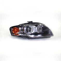 TYC 20-6953-00 | 2006 Audi A4 Chrome/Clear HID Headlights for Coupe/Sedan/Hatchback/Wagon