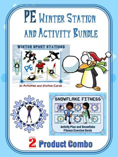 PE Winter Station and Activity Bundle- 2 Product Combo