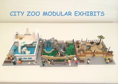 LEGO Ideas - City Zoo Modular Exhibits Lego Animals, Animals For Kids, Lego Zoo, Lego Mansion, Diorama Kids, Zoo Project, City Zoo, City Layout, Lego Challenge