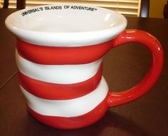Dr Seuss The Cat in The Hat Ceramic Coffee Mug Universal's Islands of Adventure | eBay