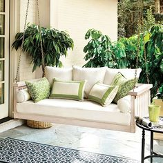 Sunday Porch Swing from Ballard Designs. Saved to Home Sweet Home. Shop more products from Ballard Designs on Wanelo. Outdoor Sofa, Outdoor Spaces, Outdoor Living, Outdoor Furniture, Outdoor Kitchens, Outdoor Pillow, Garden Furniture, Futons, Daybeds
