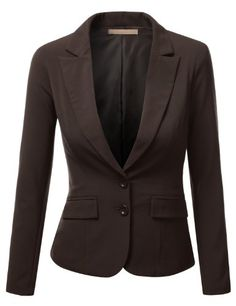J.TOMSON Womens Form Fitting Boyfriend Blazer - Click image twice for more info - See a larger selection of womens blazers at http://azdresses.com/category/blazers/ - - women, womens fashion, fashion ideas, blazers, womens clothing, clothes, mystyle, fashion, gift ideas « AZdresses.com