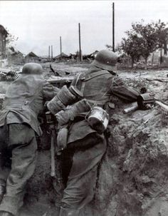 """adlerangriff: """" Wehrmacht soldiers in a trench Stalingrad 1942 """":"""