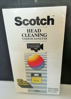 19.95 Scotch Head Cleaning Video Cassette Camcorder Cleaner VHS Factory Sealed 3M Vtg #Scotch