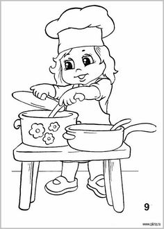 Coloring Pictures For Kids, Coloring Sheets For Kids, Pictures To Draw, Art Drawings For Kids, Disney Drawings, Easy Drawings, Preschool Coloring Pages, Colouring Pages, Coloring Books