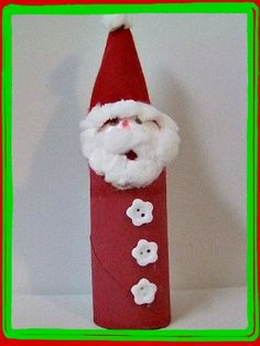Toilet Paper Roll Santa Craft by kiboomukidscrafts #KIds #Crafts #Christmas