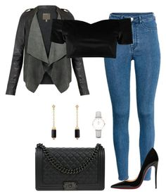 """""""Untitled #336"""" by xolafkax on Polyvore featuring H&M, Boohoo, Christian Louboutin, Chanel, CLUSE and David Yurman"""