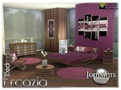 and to continue with Ercazia series.here the bedroom Found in TSR Category 'Sims 4 Adult Bedroom Sets'
