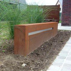 Lichtbalk | Cortenstaal | beleving in tuin en buitenruimte