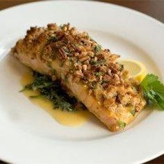 Alaska Salmon Bake with Pecan Crunch Coating - Allrecipes.com