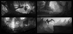ArtStation - Black and white thumbnails, Nikolay Razuev