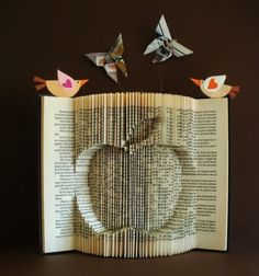 clara maffei: folding and cutting book pages