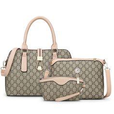 2016 women bag hot sale in Europe and the shoulder portable oblique cross bag exquisite interlayer three-piece handbag