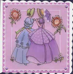 Friends Crinoline  ladies. a Judith Maslen pattern