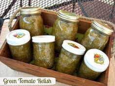 Mommy's Kitchen - Recipes From my Texas Kitchen!: Green Tomato Relish & The Gift of Southern Cooking