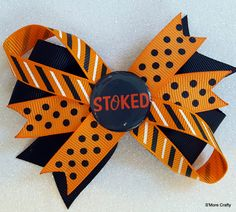 Baltimore Orioles StOked MLB Baseball Orange & Black Grosgrain Ribbon Hair Bow, Oriole Barrette, Maryland MD O's Clip, Team Hairbow Fan Gear by SmoreCrafty on Etsy