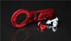 Blackworks Racing Billet FRONT Tow Hook - RED