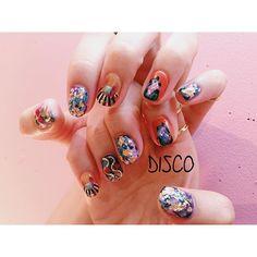 Nail by @nagisakaneko #disco#disconail @disco_tokyo