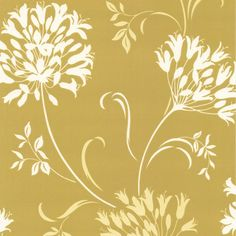 Nerida Floral Silhouette Wallpaper in Light Green design by Brewster Home Fashions
