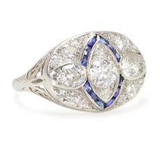 Echo of a Kiss - Diamond Sapphire Ring