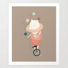 Danika Puts on a Show Art Print by Creature Comforts | Society6