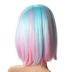 Blue And Pink Hair, Blue Wig, Ombre Hair Color, Cool Hair Color, Pink Blue, Unicorn Hair Color, Violet Hair, White Hair, Blue Lace