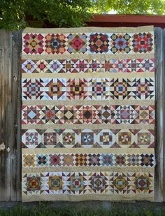 I love row quilts but oh what a lot of work this one is