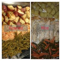 This one pan dish is a Pin Win. Super easy recipe from pinterest.    Chicken Potato and Green Bean Bake Baked Green Beans, Chicken Potatoes, Italian Chicken, Pinterest Projects, Super Easy, Easy Meals, Dishes, Baking, Recipes