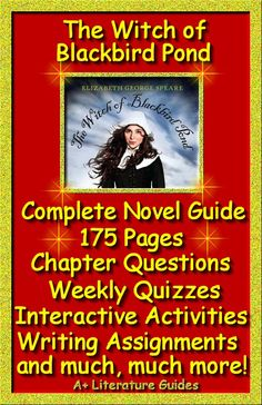 The Witch of Blackbird Pond by Elizabeth George Speare.  175 page complete literature guide including chapter questions and answers, interactive activities, weekly quizzes and final test, writing assignments and so much more!  Both Common-Core and Bloom's Taxonomy aligned. Just print and go!