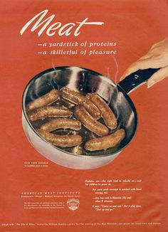 1940s Ad American Meat Institute 1944 WWII Era by AdVintageCom