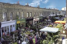 Columbia Road Flower Market | One of London's most visually appealing markets, Columbia Road overflows with bucketfuls of beautiful flowers every Sunday. There are bulbs, herbs, shrubs and bedding...