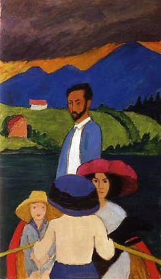 Germany. Der Blaue Reiter. 'Boating', 1910. // Gabriele Munter