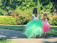 How To Make a Classic Tulle Tutu: These pretty skirts are ideal for a flower girl's wedding dress, playtime, ballerinas-in-training or just for the fun of it. Have the kids help with this project, even if they're not handy with scissors, they can help layout the fabric and tie it onto the elastic. From DIYnetwork.com