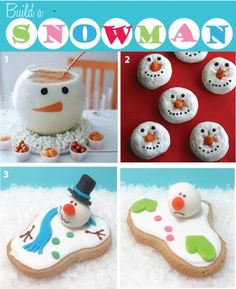 Love the melted snowman cake. Great idea for my daughter's winter birthday! Christmas Goodies, Christmas Desserts, Christmas Treats, Holiday Treats, All Things Christmas, Holiday Fun, Holiday Recipes, Christmas Time, Christmas Holidays