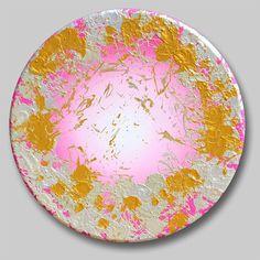 "Eterna Primavera Benini 2010 36"" diameter  #contemporaryart #Benini #art #arte Roundpainting #tondo #abstractpainting"